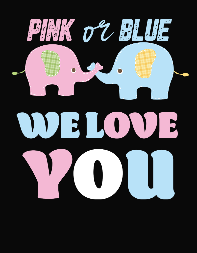 Pink or Blue We Love You baby Shower